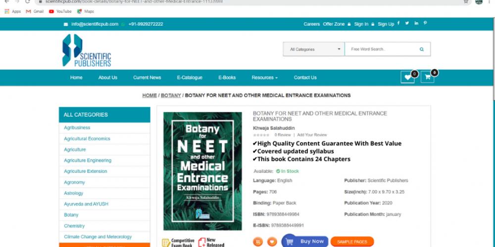 Botany Book for NEET Exam